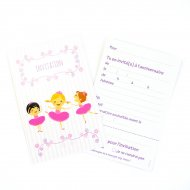 6 Invitations Ballerine Jolie