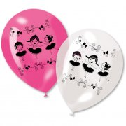 6 Ballons Ballerine Jolie