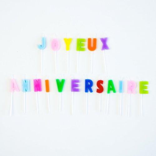 Bougies Lettres Joyeux Anniversaire Multicolore