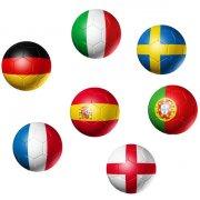 Balle Rebondissante Ballon de Foot Euro - Maxi