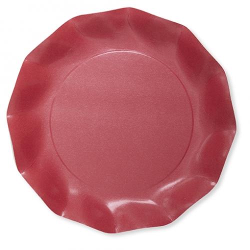 8 Petites Assiettes Compostable Rouge