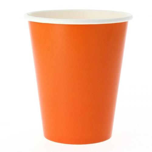 8 Gobelets Compostable Orange