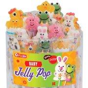 6 Sucettes Bébés Animaux Jelly Pop (15 g)