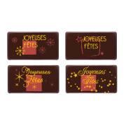4 Plaquettes Joyeuses Fêtes - Chocolat Noir