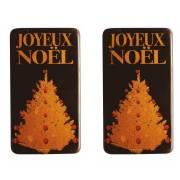 2 Plaquettes Joyeux Noël Sapin - Chocolat Noir