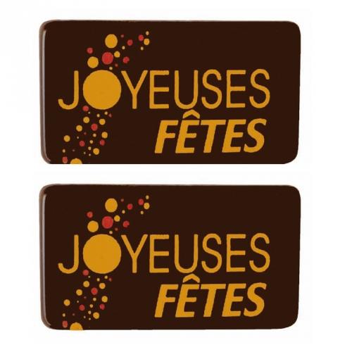 2 Plaquettes Joyeux Noël Neige Pétillant - Chocolat Noir
