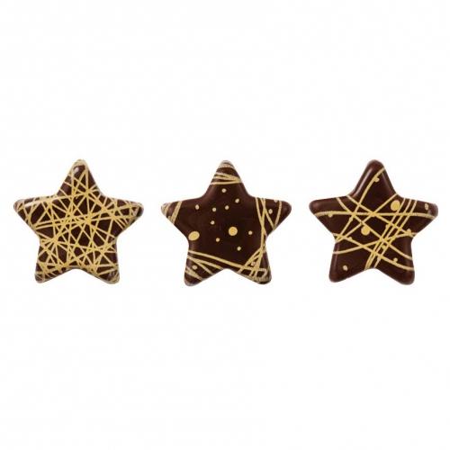 3 Mini Etoiles Or - Chocolat Noir