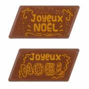 2 Plaques Joyeux Noël Marché de Noël (5,5 cm) - Chocolat au Lait