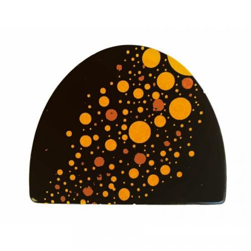 2 Embouts de Bûche Neige Pétillant (8 cm) - Chocolat Noir