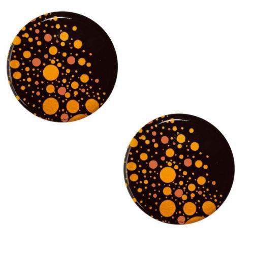 2 Mini Disques Neige Pétillant (3,8 cm) - Chocolat au Lait