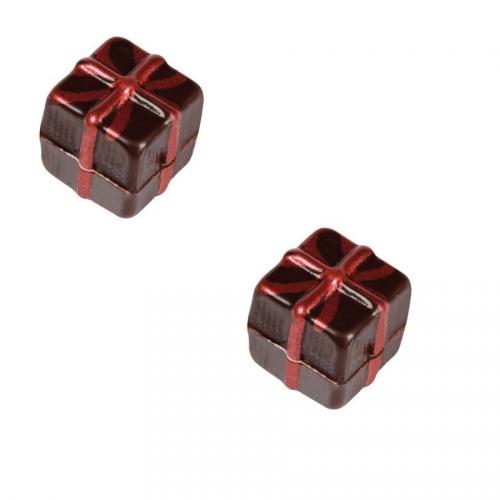 2 Paquets Cadeaux 3D (2,4 cm) - Chocolat Noir
