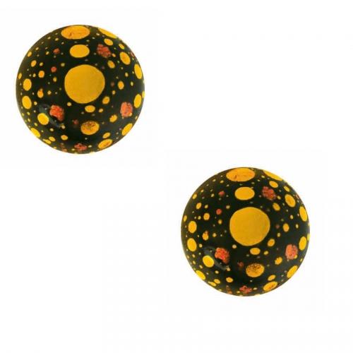 2 Boules Neige Pétillant 3D (2,8 cm) - Chocolat Noir