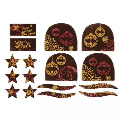 2 Kits Spécial Bûches Boule de Noël - Chocolat Noir