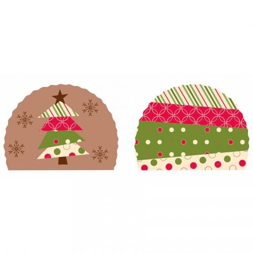 2 Embouts de Bûche Noël (7,6 cm) - Azyme