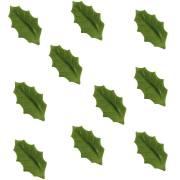 10 Feuilles de Houx Vert Foncé (4,7 cm) - Azyme