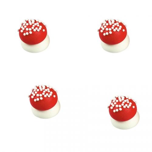 4 Mini Champignons Rouge (2 cm) - Sucre