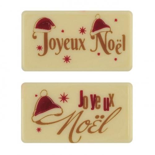 2 Plaquettes Joyeux Noël - Chocolat Blanc