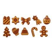10 Petites Formes Noël (3,4 cm) - Chocolat au Lait