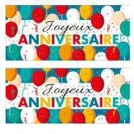 2 Plaquettes Joyeux Anniversaire Ballons (9 cm) - Azyme