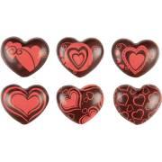 6 Coeurs 3D - Chocolat