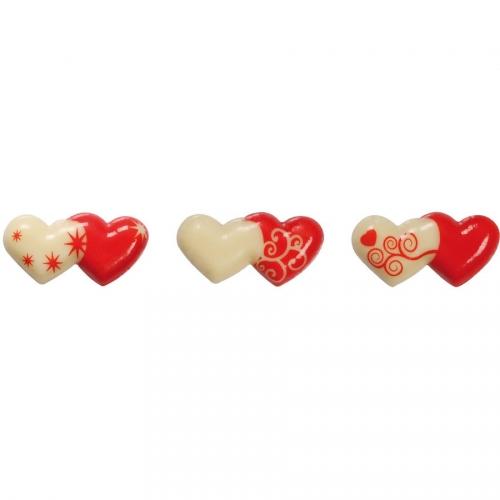 4 Cœurs Entrelacés - Chocolat Blanc