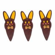 3 Pics Tête de Lapin - Chocolat Noir