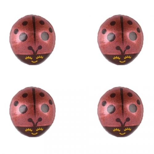 4 Coccinelles (2,3 cm) - Chocolat