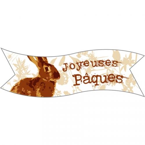1 Plaquette Lapin Joyeuses Pâques - Azyme
