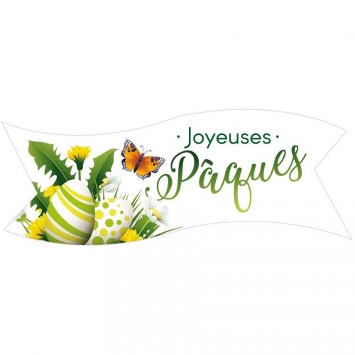 1 Plaquette Joyeuses Pâques Verte - Azyme