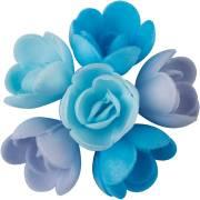 6 Mini Roses Bleu (3 cm) - Azyme