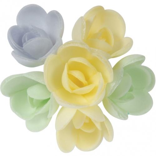 6 Mini Roses (3 cm) Azyme - Saveur Vanille Caramel