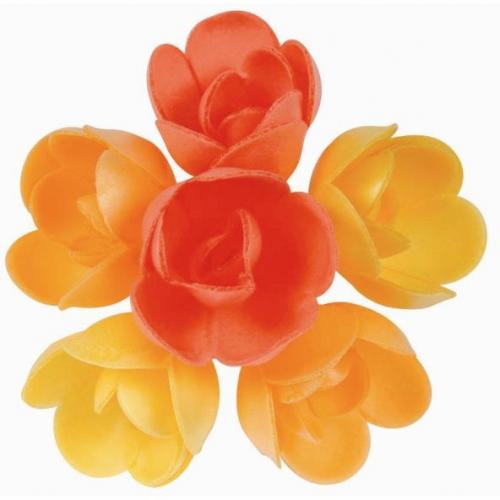 6 Petites Roses (4 cm) Azyme - Saveurs Fruits Exotiques