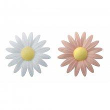 2 Petites Marguerites Rose/Blanc Bio (4,5 cm) - Azyme