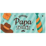 1 Plaquette Bonne Fête Papa (9 cm) - Azyme