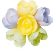 6 Petites Roses (3 cm) Azyme - Saveur Vanille Caramel