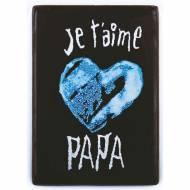 1 Plaquette Je t'aime Papa Coeur Bleu ( 6,1 cm) - Chocolat
