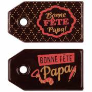 2 Tags Bonne Fête Papa ! ( 5,5 cm) - Chocolat