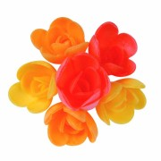 6 Mini Roses Saveurs Fruits Exotiques (3 cm) - Azyme