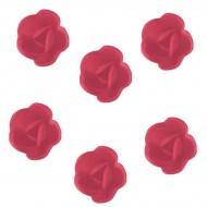 6 Mini Roses (3 cm) Azyme - Saveur Fraise