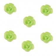 6 Mini Roses (3 cm) Azyme Vert Pastel - Saveur Vanille Caramel