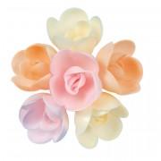 4 Petites Roses (4 cm) Azyme - Nuancée