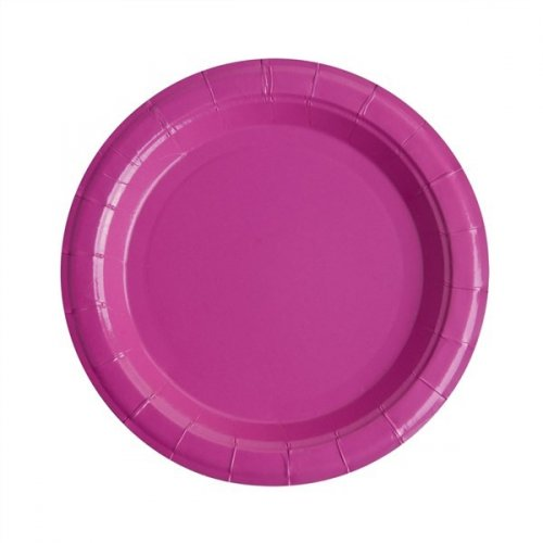 10 Assiettes Rose Fuchsia