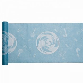 Chemin de table Candy Bleu