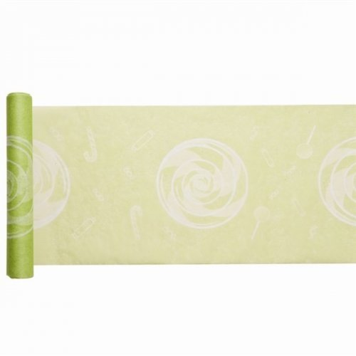 Chemin de table Candy Vert