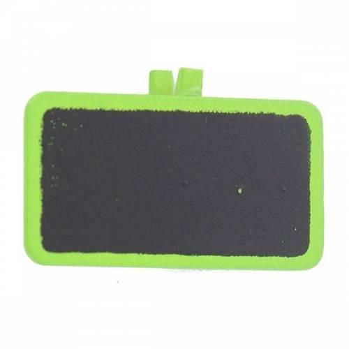 12 Pinces Mini ardoises Vert