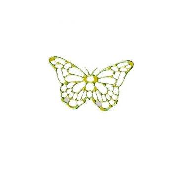 25 Stickers dentelle Papillon Vert