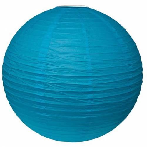 Boule Lampion géant Bleu Turquoise