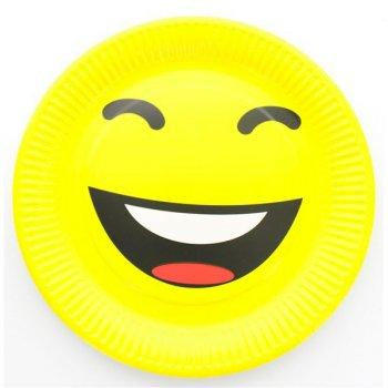 10 Assiettes Smiley LOL