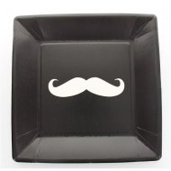 10 Assiettes Moustache