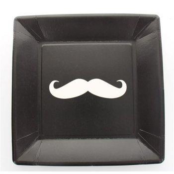 10 Assiettes Moustache